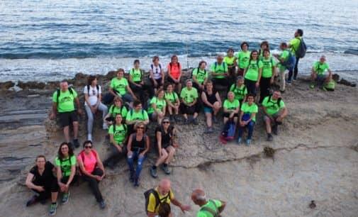 Marcha nocturna de Aviana por La Albufereta  y playa de San Juan