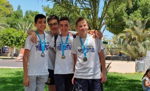 Tres podiums y dos mínimas Autonómicas para el Club Natación Villena en el Trofeo de la Diputación