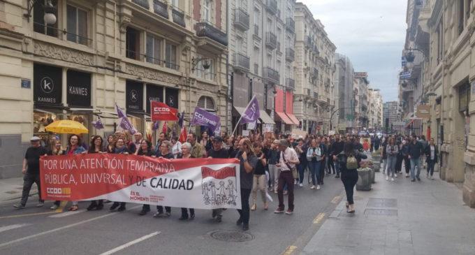 Profesionales de APADIS secundan la jornada de huelga en defensa de la atención temprana en la Comunidad Valenciana