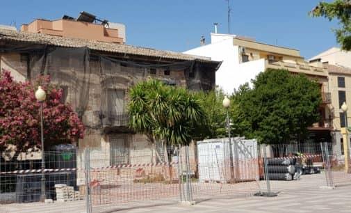 Las obras de la plaza Las Malvas se paralizarán a mediados de agosto