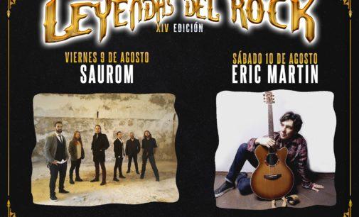 Saurom y Eric Martin, conciertos acústicos de Leyendas del Rock 2019