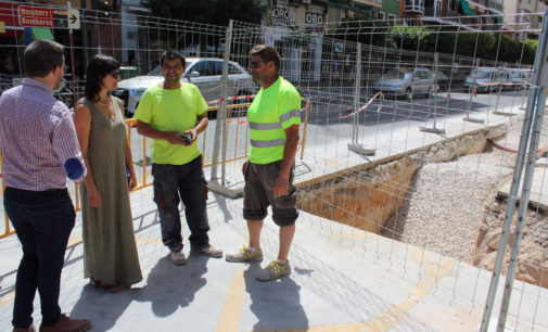 La concejala de Ciclo del Agua visita las obras de María Auxiliadora