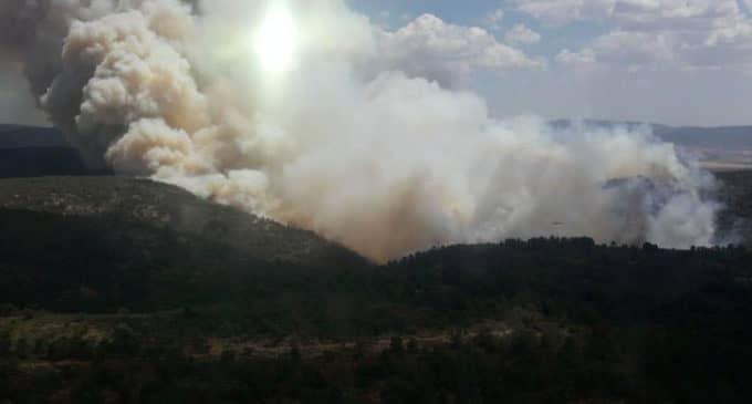 Solicitan la participación de los aviones Foca del Estado en el incendio de Beneixama