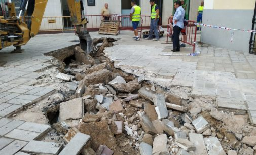 Actuación de urgencia y provisional en la plaza Las Malvas