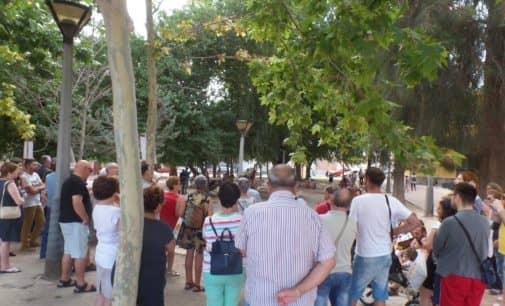 La Plataforma de Pensionistas defiende el Sistema Público de Pensiones en el parque Martínez Olivencia