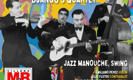 Concierto de Fabian Barraza Dajngo ́s Quartet en el paseo Chapí