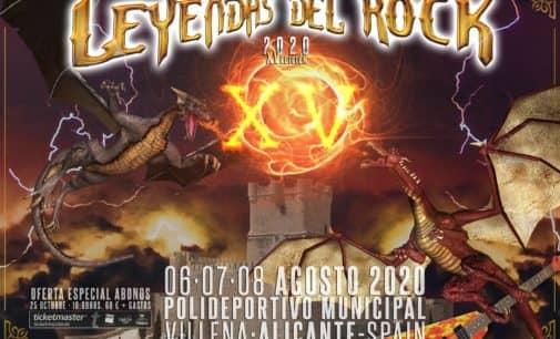 Leyendas del Rock 2020 se celebrará los días 6, 7 y 8 de agosto
