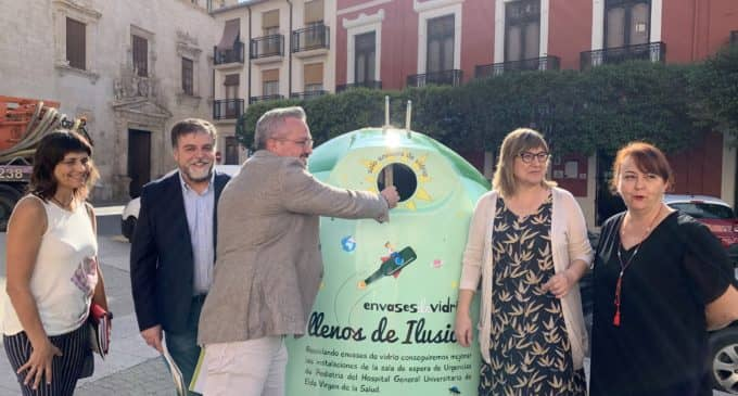 Buscan incrementar un 10% el reciclaje de vidrio a través de una campaña solidaria con el Hospital de Elda