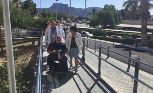 Comprueban la accesibilidad del Hospital de Elda.