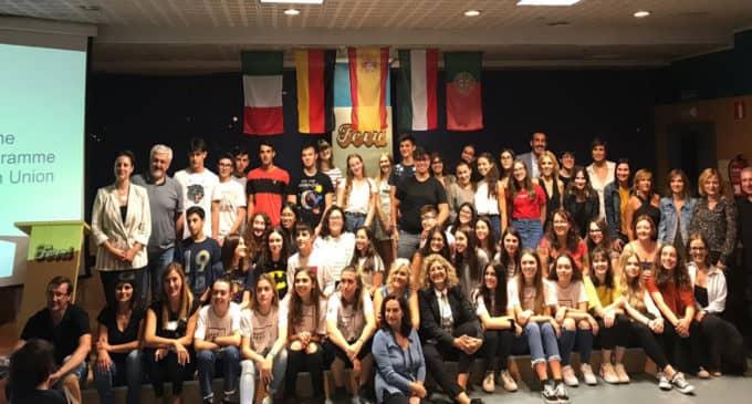 El IES Las Fuentes realiza la recepción del proyecto Erasmus +
