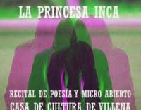 """""""A micro abierto"""" de poesía con Princesa Inca"""