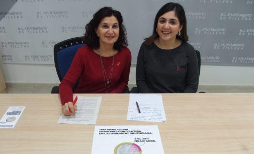 Villena se une a la campaña de concienciación para evitar el contagio del virus del Sida
