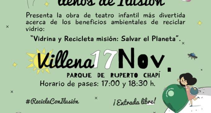 Ecovidrio realiza actividades de teatro al aire libre en Villena  el próximo domingo
