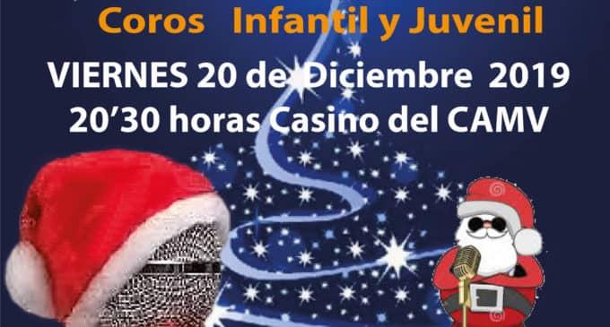 Concierto navideño en el CAMV de los coros Infantil  y Juvenil de la Coral Ambrosio Cotes