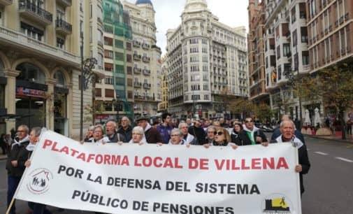 La Plataforma por la Defensa del Sistema Público de Pensiones se concentra en Valencia