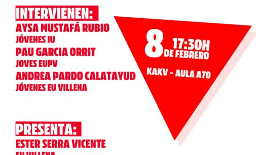 Jóvenes IU Villena organiza una conferencia sobre las realidades y retos de la juventud