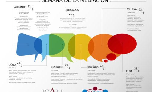 ICALI celebra el Día Europeo de la Mediación con mesas informativas en los juzgados y una jornada práctica  en Villena, Elda y Novelda