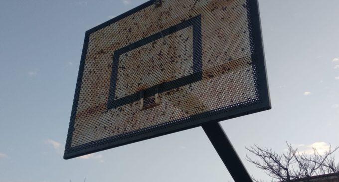 Desaparecen los aros de las canastas de baloncesto en el colegio Príncipe Don Juan Manuel de Villena