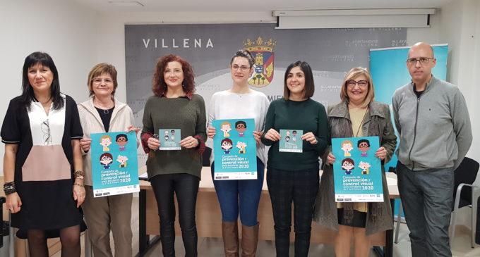 Villena inicia la campaña de prevención y control visual gratuita para escolares de 3º de Primaria