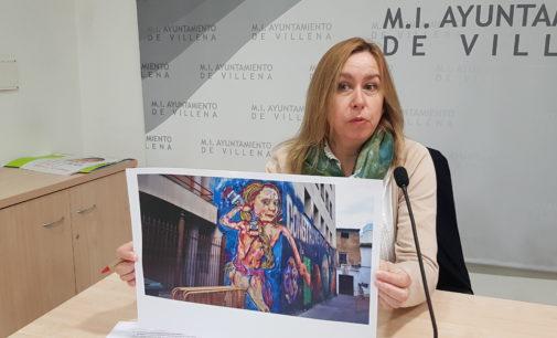 El PP cree que el grafiti de la Casa de la Cultura  atenta contra el Plan del casco histórico de Villena