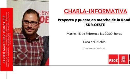 La agrupación socialista de Villena organiza una charla-coloquio sobre el proyecto de la Ronda Suroeste el próximo miércoles