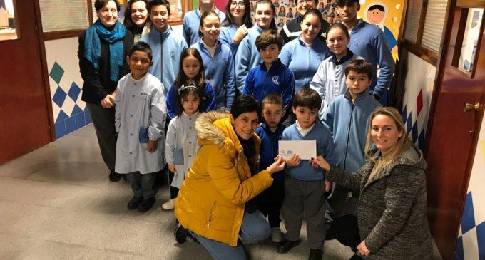 El colegio Paulas hace un donativo para un proyecto de Cáritas
