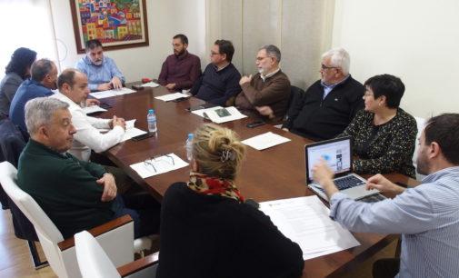 Reunión de los alcaldes del Alto Vinalopó para tratar el proyecto del nodo logístico