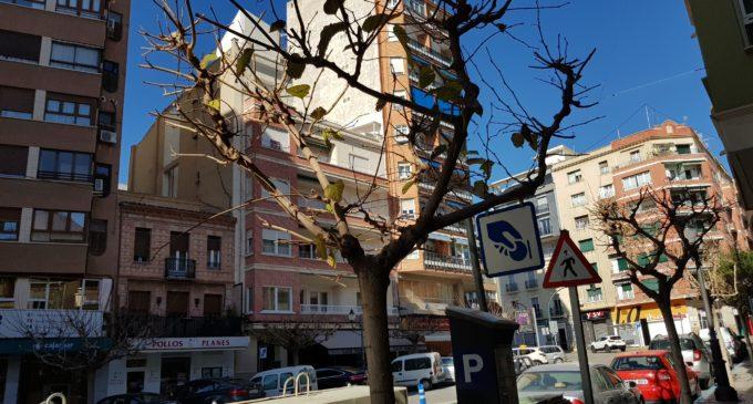 La falta de personal en la brigada de Jardines provoca que solo un trabajador pueda realizar tareas de poda en Villena