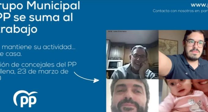 El PP se suma al teletrabajo: reuniones de concejales telemáticas desde el primer día