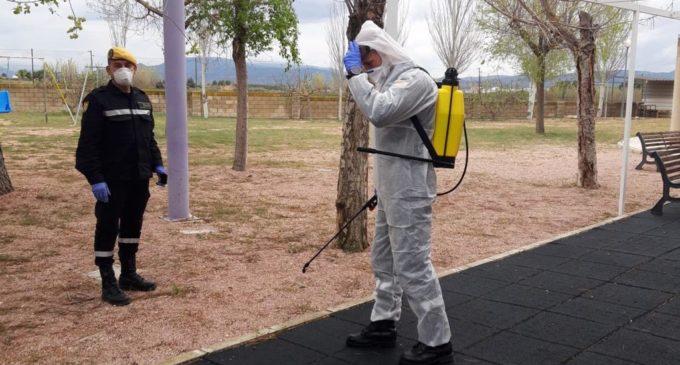 La UME continúa en Villena con las labores de desinfección