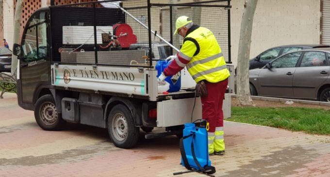 Continúan las labores de limpieza y desinfección