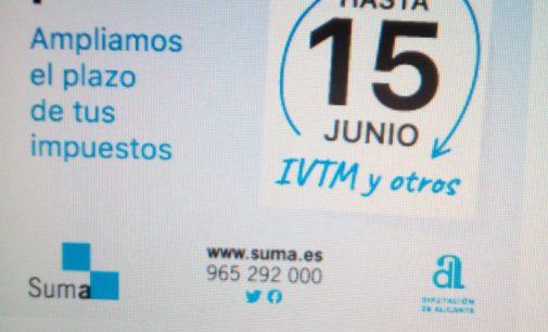 SUMA amplía el pago de sus recibos hasta el 15 de junio