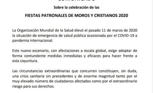 Caudete suspende los Moros y Cristianos 2020