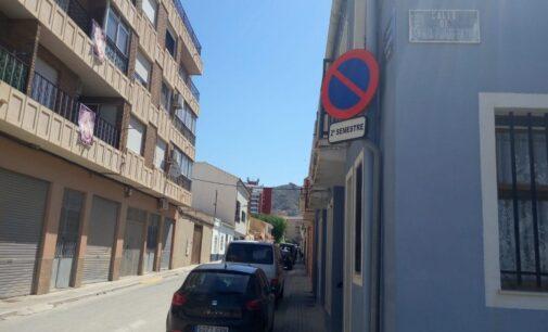 El 1 de julio se produce el cambio semestral de estacionamiento de vehículos en Villena