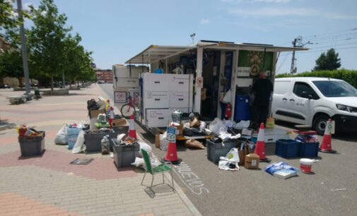 Los ecoparques móviles del consorcio CREA recogen casi 27.000 kilos de residuos