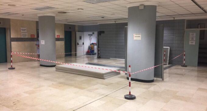 Continúa el proceso de remodelación del acceso y entrada principal al Hospital General  Universitario de Elda