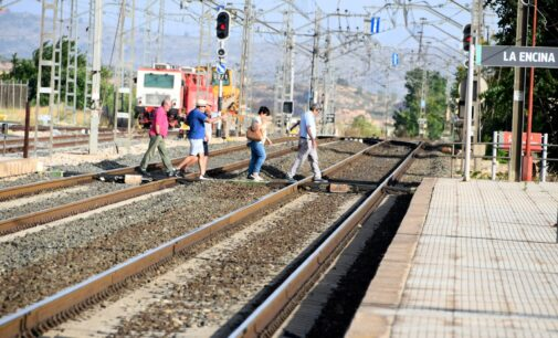 Villena trabaja para que las instalaciones ferroviarias de La Encina sean declaradas Bien de Relevancia Local