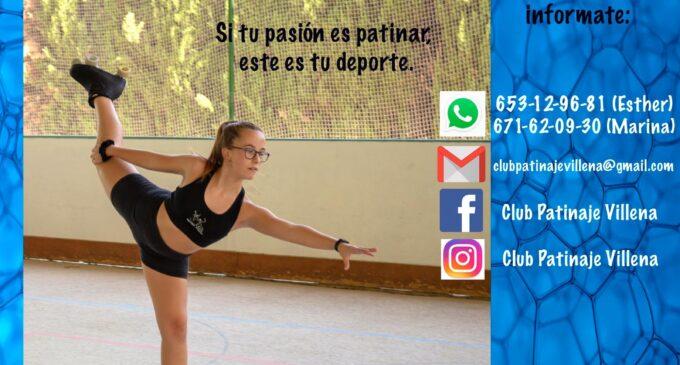 Abierto el plazo de inscripción  del Club Patinaje Villena