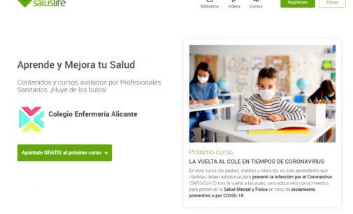 El Colegio de Enfermería de Alicante ofrece un curso gratuito sobre la vuelta al cole en tiempos de COVID-1