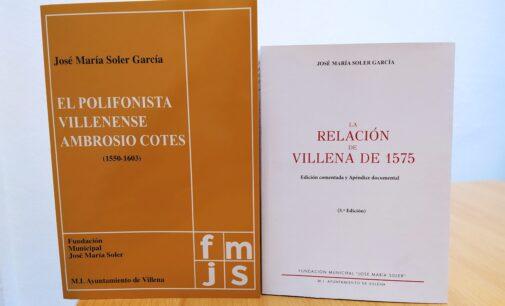 Villena reedita dos libros de José María Soler