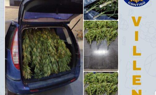 La Policía Local detiene a tres personas que transportaban marihuana
