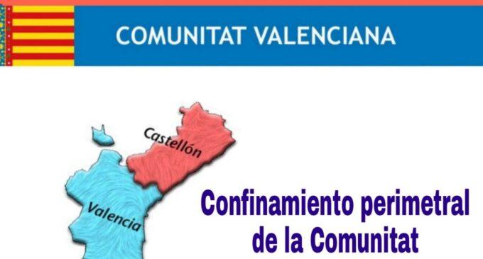 La Comunidad Valenciana cierra las fronteras