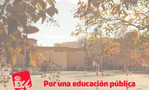IU apuesta por una educación pública de calidad