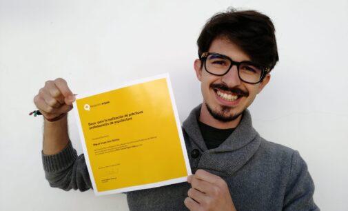 Miguel Ángel Ortín Molina, estudiante de la Escuela de Arquitectura de la UPV gana una Beca Fundación Arquia