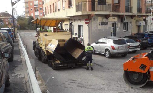 Villena termina el reasfaltado de 22 calles con una inversión de 38.000 €