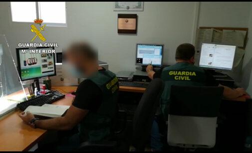 La Guardia Civil esclarece 58 delitos de estafa cometidos a través de Internet