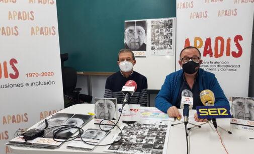 El calendario de APADIS 2021 homenajea a los usuarios y a Vicente Prats