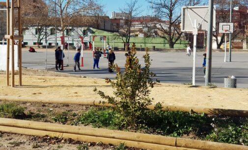 Alumnos del taller de empleo adecúan el jardín de los colegios Celada y Príncipe