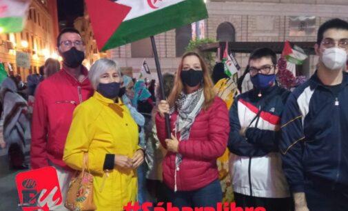 IU Villena en apoyo al pueblo saharaui