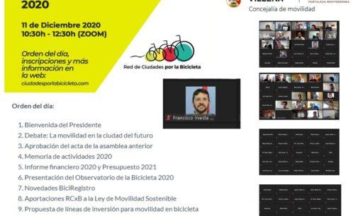 Villena participa en la asamblea anual de la Red de Ciudades por la Bicicleta 2020